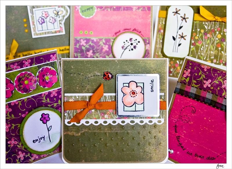 conjunto tarjetas scrapbooking